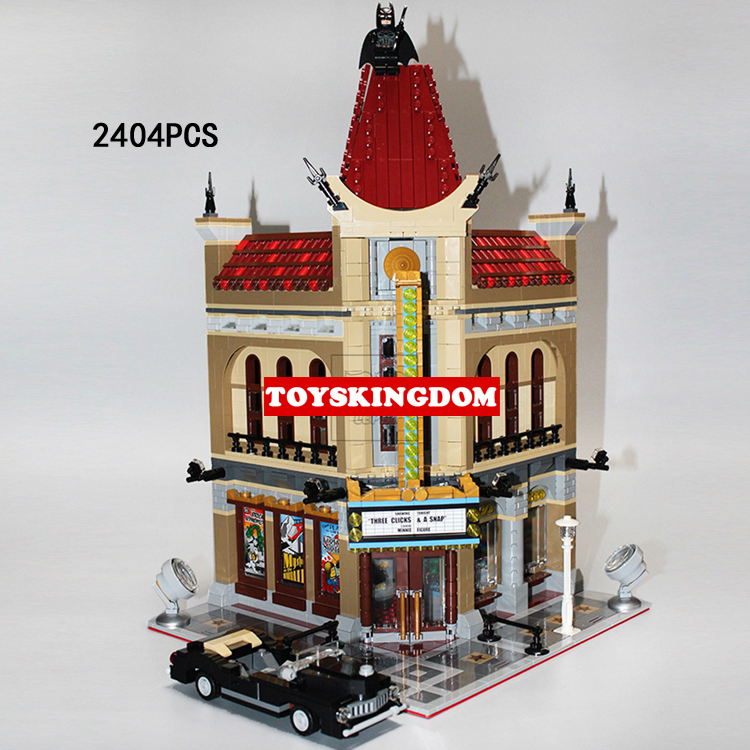 Classic creator city street view cinema Palace building block model moviegoer figures cars bricks 10232 toys for kids gifts 2016 new lepin 15006 2354pcs creator palace cinema model building blocks set bricks toys compatible 10232 brickgift
