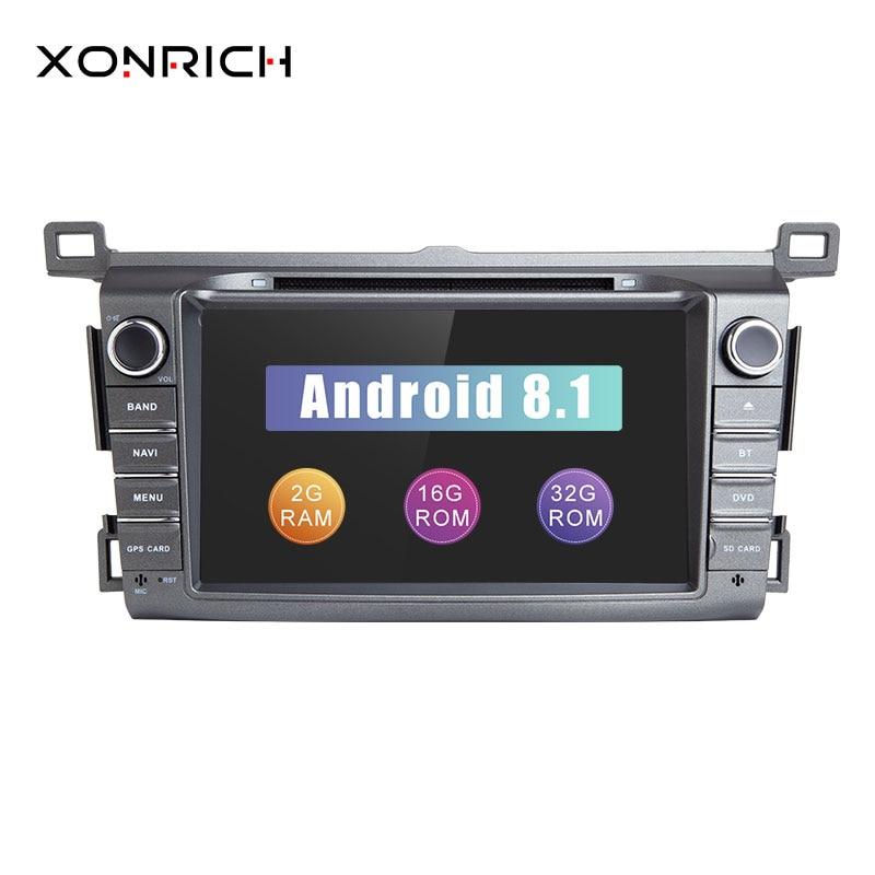 Autoradio 2 din Android 8.1 Car DVD Player For Toyota RAV4 Rav 4 2013 2014 2015 GPS Navigation Multimedia Head Unit Stereo Wifi