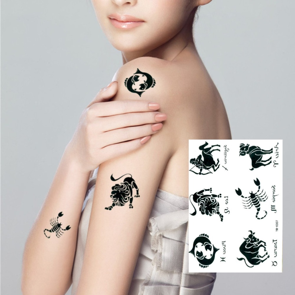 Online buy wholesale zodiac signs tattoos from china for Wholesale temporary tattoos