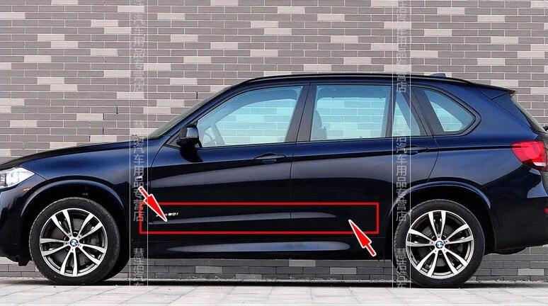 ABS chrome side door molding trim door streamer trim 4pcs for BMW X5 2014