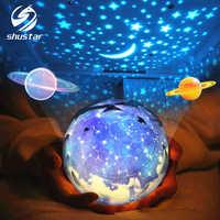 Estrela luz da noite céu mágico estrela lua planeta lâmpada do projetor cosmos universo luminaria luz do berçário do bebê para o presente de aniversário