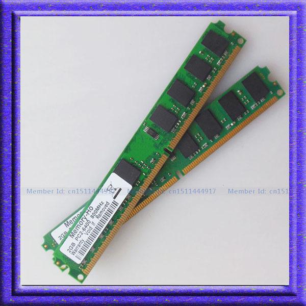 Prix pour Nouveau 4 GB 2X2 GB PC2-6400 DDR2 800 MHZ Bureau Mémoire 2 gb 800 pc6400 ddr2 800 mhz 240PIN RAM Faible DENSITÉ DIMM bureau Livraison gratuite