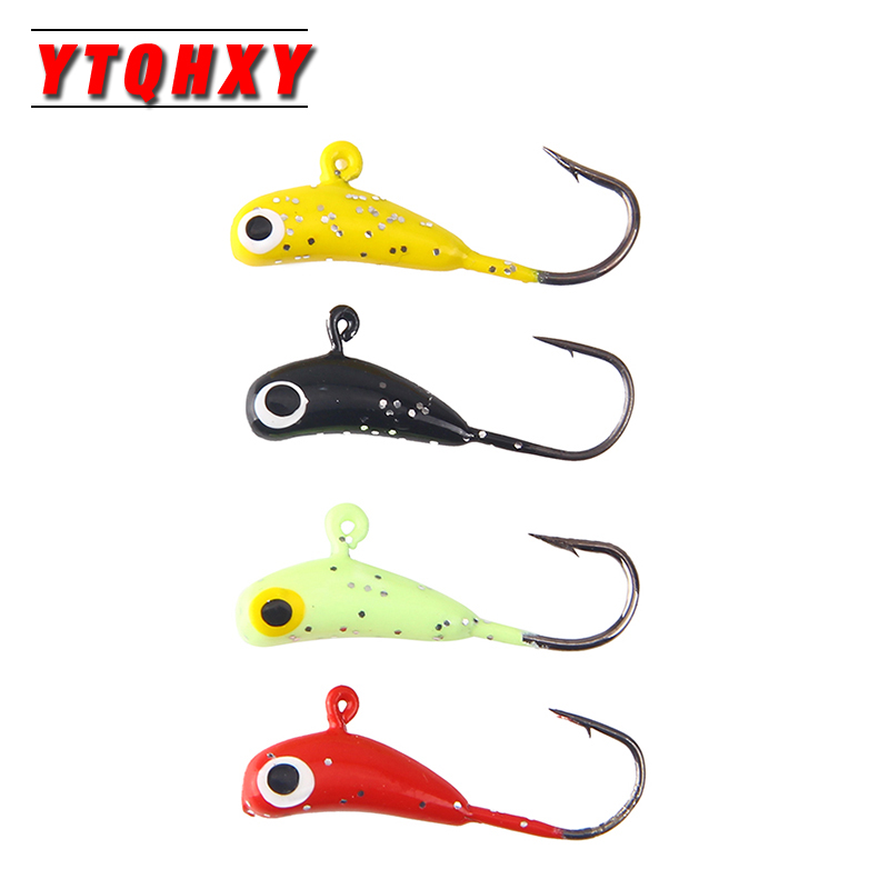 1Pcs Winter Fishing Hook Lure Mini Metal Bait Fish 24mm/1.6g Lead Head Hook Bait Jigging Ice Fishing Tackle WQ8146 new automatic string hook for fish hook fishing silver carp oxtail fishing group manually refined fish hook with bait beads yg24