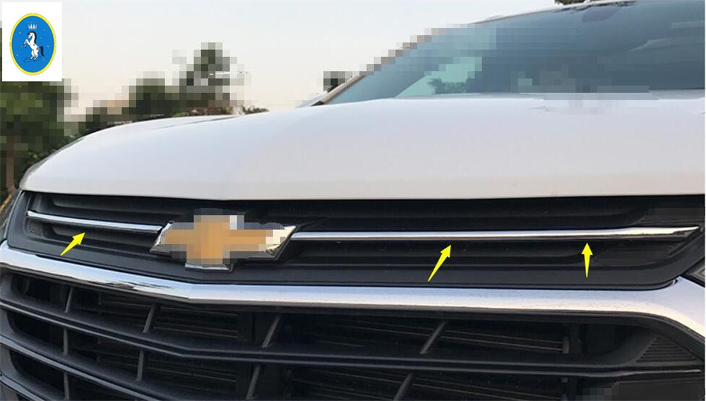 For 2018 2019 Chevrolet Equinox Chrome Front Grille Decorative Cover Trim 5PCS