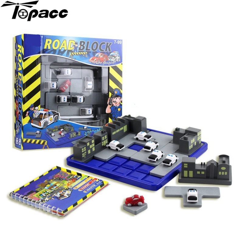 Free Shipping New Plastic Road Puzzle Polices Thief Games 60 Challenges Kid Intelligence Educational Toys For Children Kids