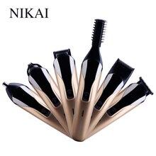 NIKAI Skilled Hair Trimmer 6 In 1 Hair Clipper Shaver Units Electrical Shaver Beard Trimmer Hair Chopping Machine NK-1711