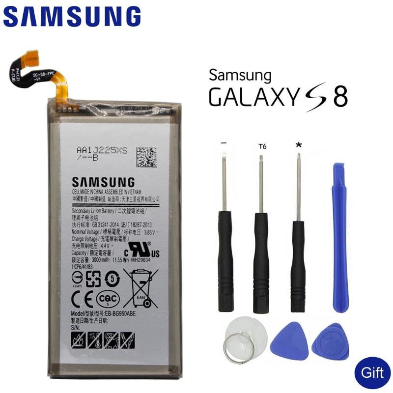 SAMSUNG Original Batterie De Rechange EB-BG950ABE Pour Samsung GALAXY S8 SM-G9508 G9508 G9500 G950U SM-G G Capacité 3000 mah