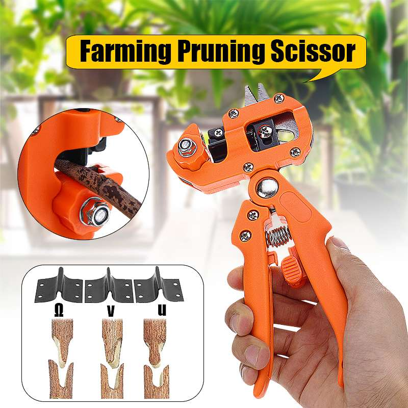 Doersupp Garden Tools Grafting Pruner Chopper Vaccination Cutting Tree Plant Shears Scissor Fruit Tree Grape Vine Graft Tool