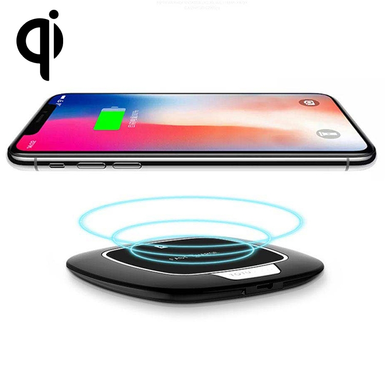 TOTUDESIGN 5V/2A 9V/1.67A Input Qi Quick Charing Wireless Charger with LED Indicator For iPhone, Galaxy and other Smartphones