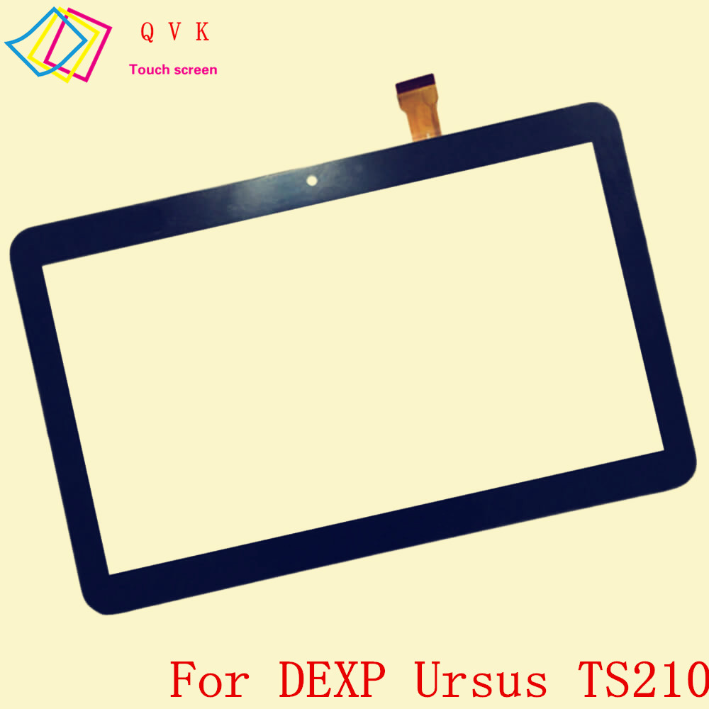 Black 10.1 Inch for DEXP Ursus TS210 tablet pc capacitive touch screen glass digitizer panel Free shipping new dexp ursus 8ev mini 3g touch screen dexp ursus 8ev mini 3g digitizer glass sensor free shipping