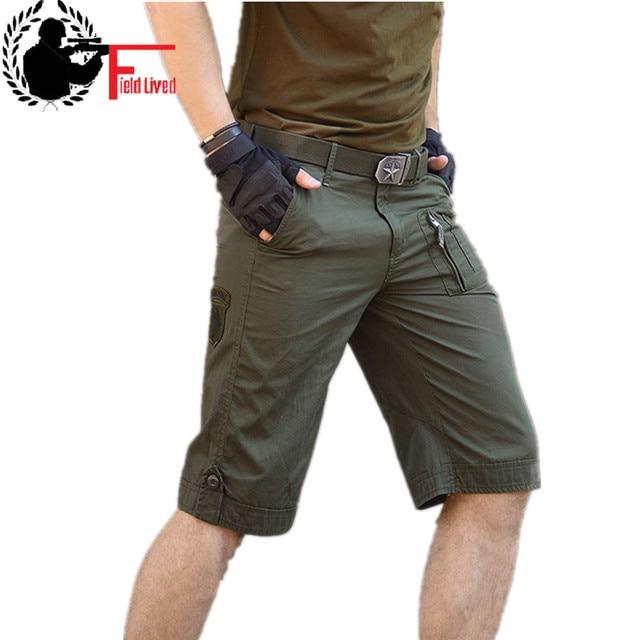 98d8a7c6f9 Militar pantalones cortos hombres uniforme ropa de camuflaje caliente de  las Bermudas de algodón de verano