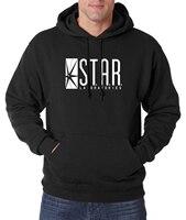 Fashion Brand Clothing STAR S T A R Labs Men Hoodies Sweatshirts 2016 Autumn Winter Warm