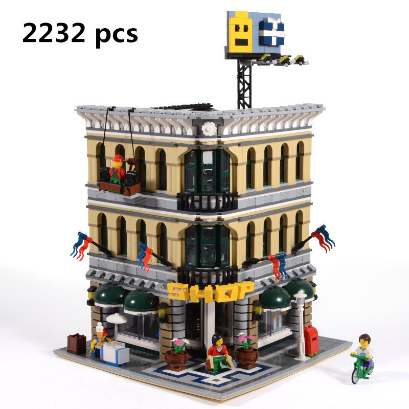 2018 LEPIN 15005 NEW 2232Pcs City Grand Emporium Model Building Blocks Kits Brick Toy Compatible 10211 Palace Friends Modelismo a toy a dream lepin 15008 2462pcs city street creator green grocer model building kits blocks bricks compatible 10185