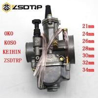 ZSDTRP 2Stroke 4 Stroke Motorcycle Keihin Koso OKO Motorcycle Carburetor Carburador 21 24 26 28 30