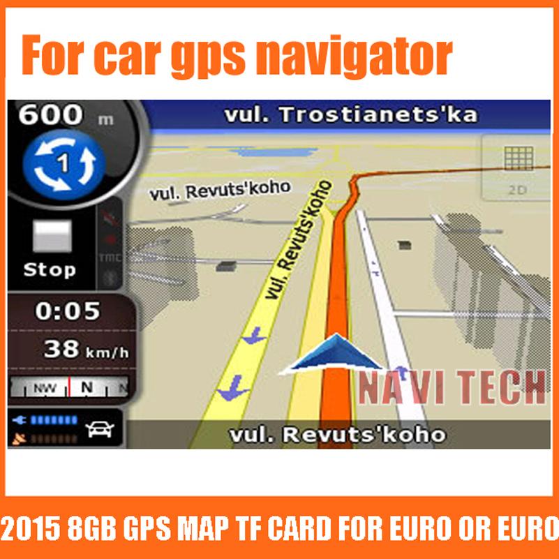 Prix pour GPS accessoires 8G gps cartes sd carte 2016 dernière Carte pour Android voiture gps navigation carte Europe/Russie/USA/CA/AU Voiture gps carte