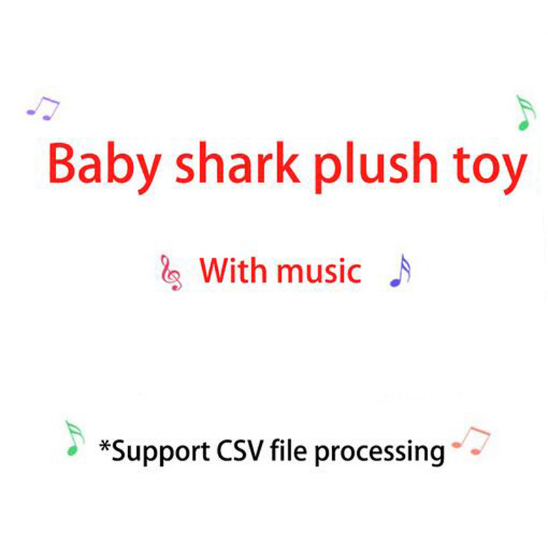 Creative Lovely Music Sound Baby Shark Plush Doll Toy Shark Soft Plush Toys Singing English Song Kids Children Gift