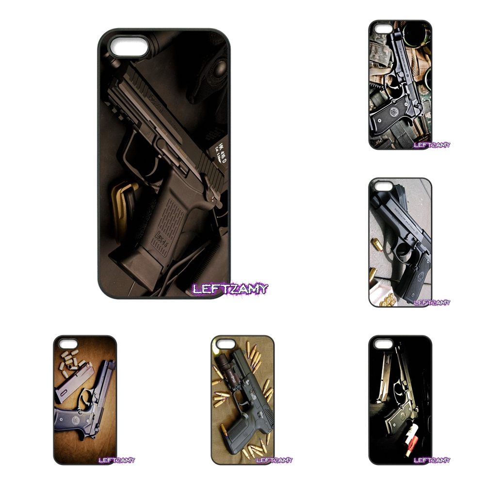 Army Sniper Rifle pistol Hard Phone Case Cover For iPhone 4 4S 5 5C SE 6 6S 7 8 Plus X 4.7 5.5 iPod Touch 4 5 6