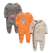 Kavkas/одежда для малышей; лето-осень г.; хлопковая одежда с длинными рукавами и рисунком медведя; костюм для новорожденных мальчиков и девочек; комбинезоны