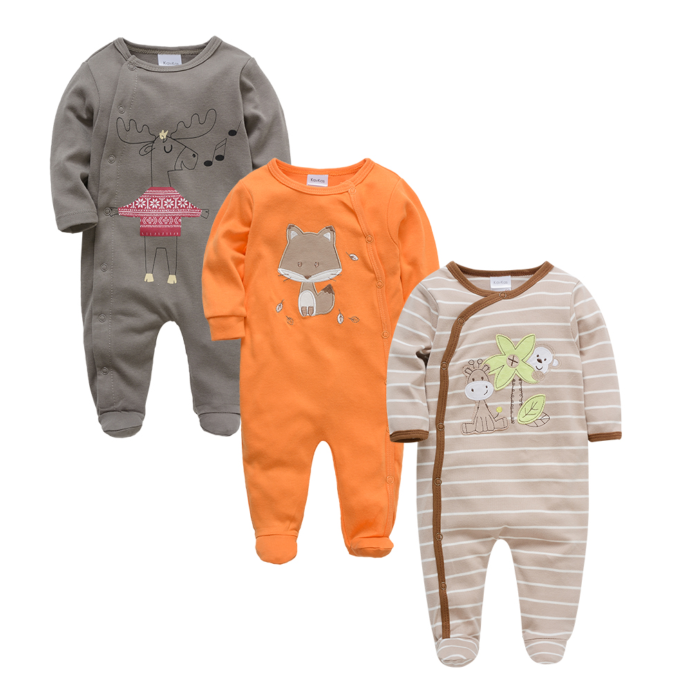 Kavkas Baby Clothes summer Autumn 2018 Bear Cotton full Sleeve clothing costume Newborn baby Boy girl   Rompers
