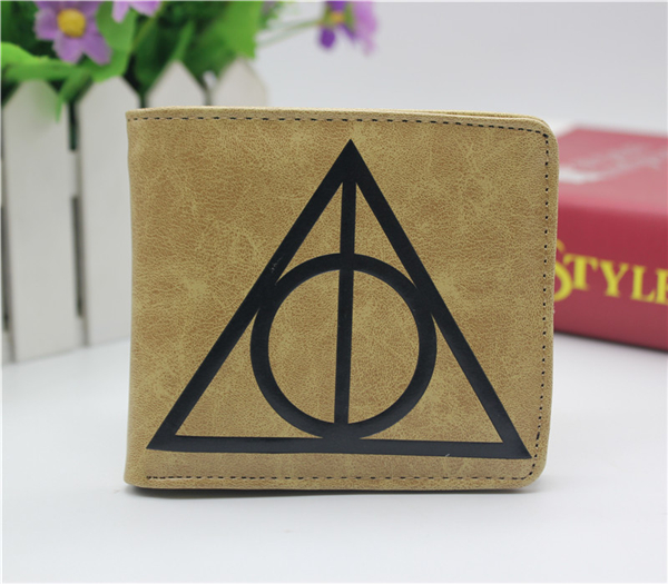Harry Potter Deathly Hallows coin wallet Cosplay men women Bifold Purse black deathly hallows glasses bracelet