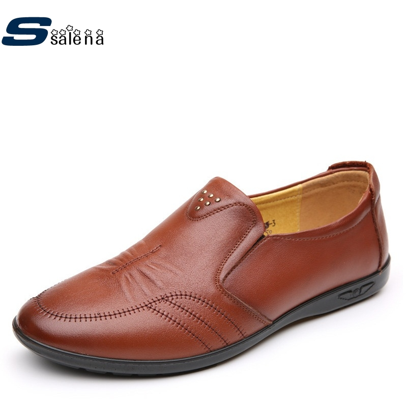Genuine Leather Male Casual Shoes Soft Footwear Classic Men Dress Shoes Light Brand Soft Male Shoes AA20354 male casual shoes soft footwear classic men working shoes flats good quality outdoor walking shoes aa20135