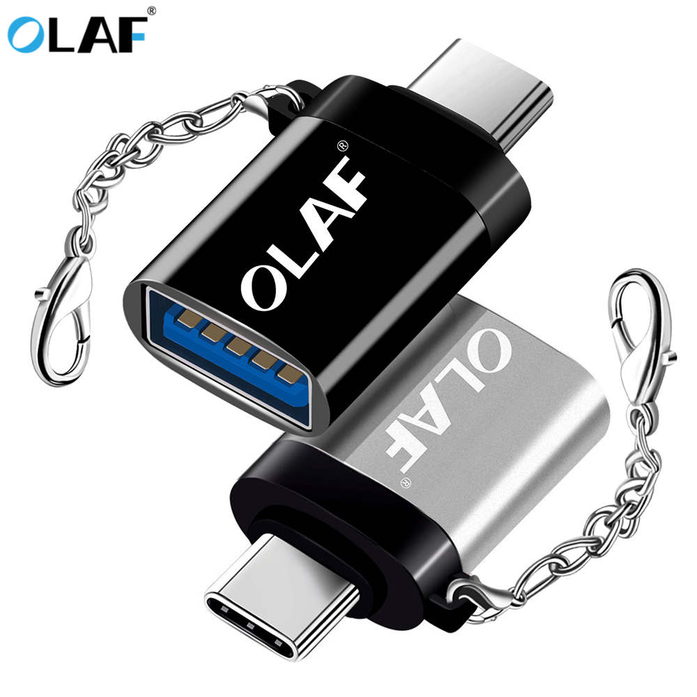 Olaf Type C OTG Adapter UBA To Type C OTG Cable Adapter USB C OTG Converter For One Plus 6 For Xiaomi Mi 8 Samsung S8 S9 Adapter