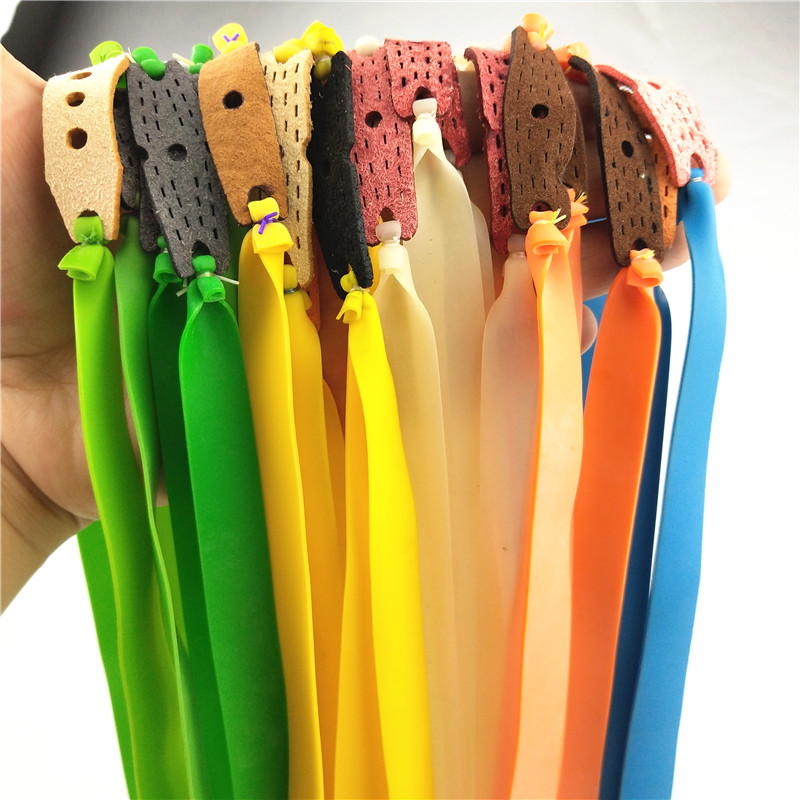 New Arrival 10Pcs Venkovní prádlo Výkonný elastický plochý gumový pás Lovecký sport Kit Catapult Set Praktické