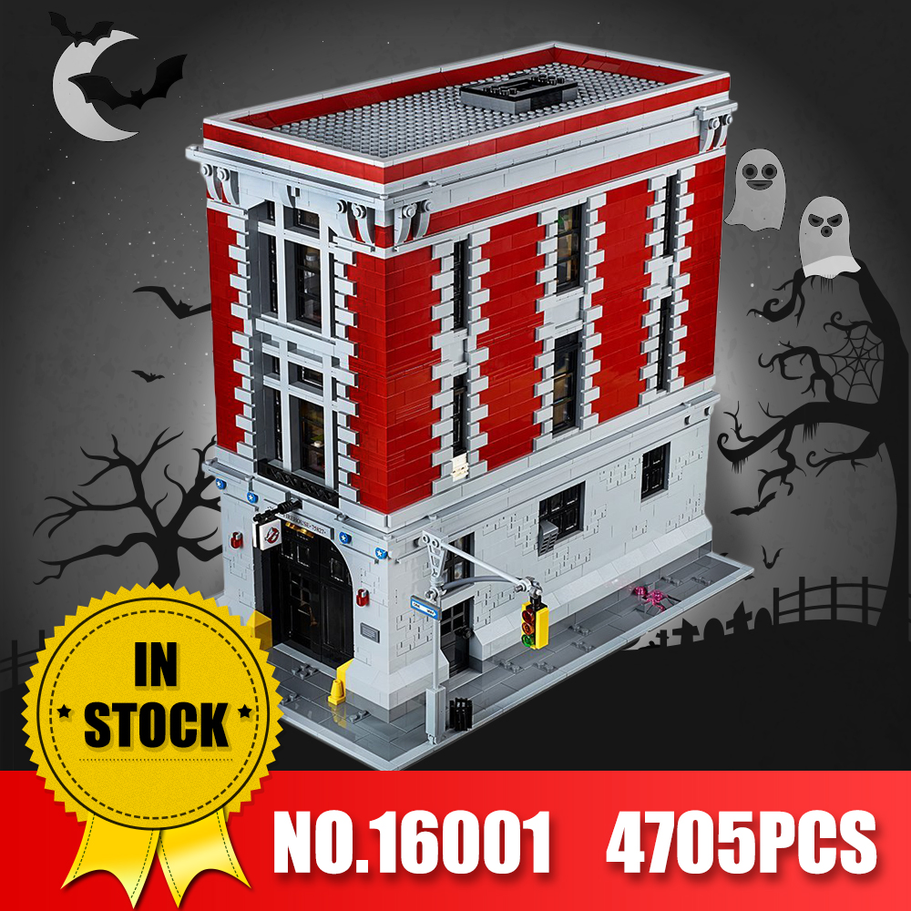 LEPIN 16001 Actuals 4705Pcs Ghostbusters Firehouse Headquarters legoINS 75827 Model Building Kits Model set Toys For Children