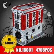 LEPIN 16001 Reais 4705 Pcs Ghostbusters Firehouse Sede legoINS 75827 Model Building Kits Modelo set Brinquedos Para Crianças