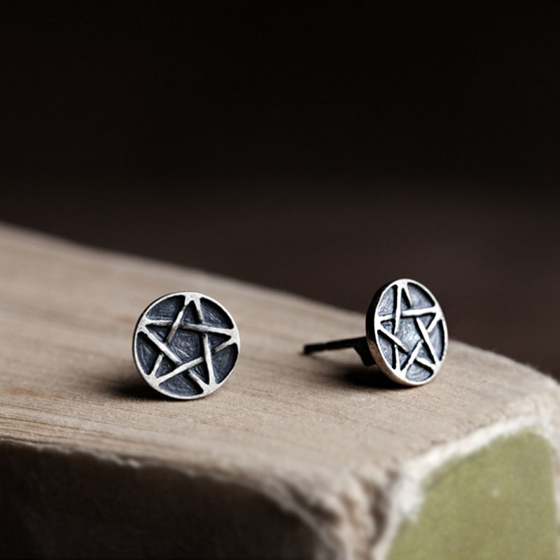 1pair Fashion Simple Jewelry Star Studs