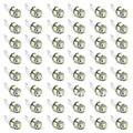 50 Pcs T10 194 168 2825 5x5050 SMD LED Branco Super Brilhante Lâmpada Do Carro Luzes led