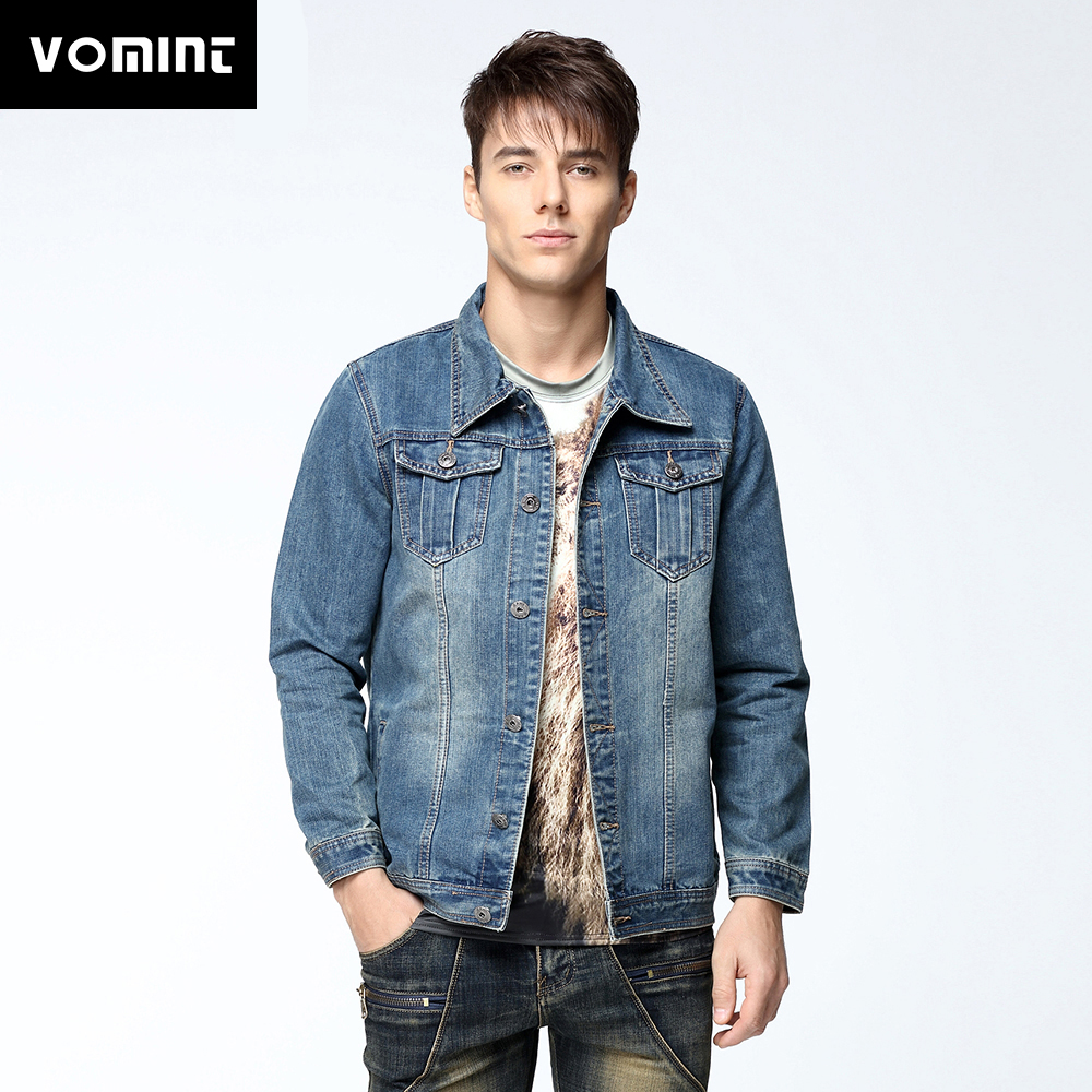 Vomint Mens Denim Jacket Coat short Sleeves Single Breasted Loose Fit Light Blue Big Men Plus Size L 4XL 5XL 6XL 7XL V7S1C002