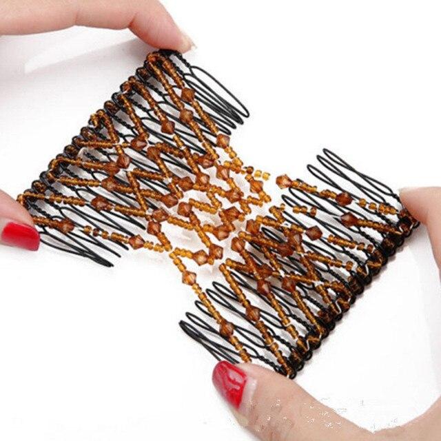 Pince à cheveux papillon Flexible élastique peigne à cheveux femmes outils de coiffure peigne professionnel brosse à cheveux mode