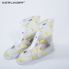 KOTLIKOFF Upgrade 100% waterproof rainproof shoe cover overshoes are thick rain tourism waterproof shoe cover
