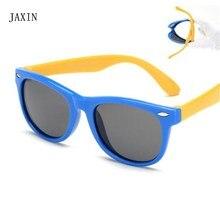JAXIN Classic Retro Polarized square Kids Sunglasses silicone border multicolor Sun Glasses Boy fashion wild eyewear girl UV400