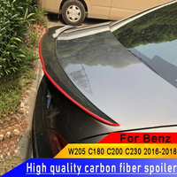 For Benz W205 C180 C200 C260 C280 C300 C63 Spoiler Car Rear Wing Carbon Fiber Rear Spoiler For W205 Carbon Fiber Spoiler 2015