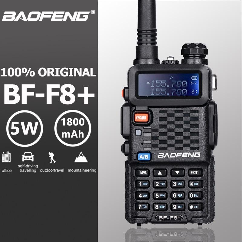 Baofeng BF-F8 + Upgrade Neue Walkie Talkie Polizei Zwei Weg Radio Pofung F8 + 5 watt UHF VHF Dual Band außen Long Range Schinken Transceiver