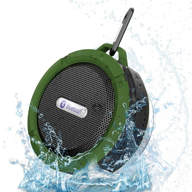 Portable Shock-Resistant Water-Resistant Metal Bluetooth Speaker