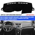 TAIJS крышка приборной панели автомобиля для Hyundai Accent Verna 2012 2013 2014 2015 2016 2017 Solaris Dash коврик анти-УФ анти-скольжения