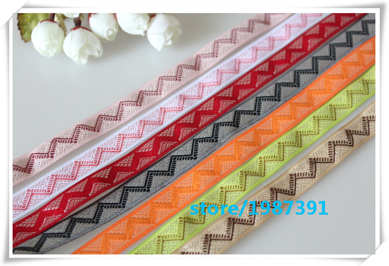 Woven Jacquard Ribbon Decorative Craft Supply 3.3 Cm Wide Sari Ribbon By The Yar