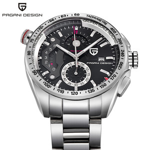 Image 2 - Luxe Merk Pagani Ontwerp Mode Chronograaf Sport Horloges Mannen Reloj Hombre Volledige Roestvrij Staal Quartz Horloge Klok Relogio