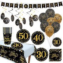 QIFU 10 piezas 12 pulgadas globos de cumpleaños bolas de aire 30 40 50 decoraciones de fiesta de cumpleaños adultos niños globos de helio papel de aluminio de látex globo