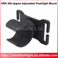 KRK 360 grad Einstellbare Taschenlampe Mount Schwarz (1 stück)|Taschenlampen-Halterungen|Licht & Beleuchtung -