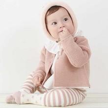 Wiosna noworodka rozpinane płaszcze dzianina bawełniana odzież wierzchnia dziewczęca dla niemowląt sweter dziewczyna jesień odzież dla dzieci odzież kurtki dla dziewczynek tanie tanio baby Kurtki płaszcze COTTON Anglia styl Czesankowej Dziecko dziewczyny Pełna Floral O-neck REGULAR B83T10 Pasuje prawda na wymiar weź swój normalny rozmiar