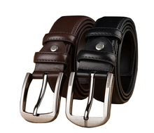 Free Shipping Hot Sale Male Real Leather Strap Fashionable Casual Wide Cowhide Belt Metal Pin Buckle Black