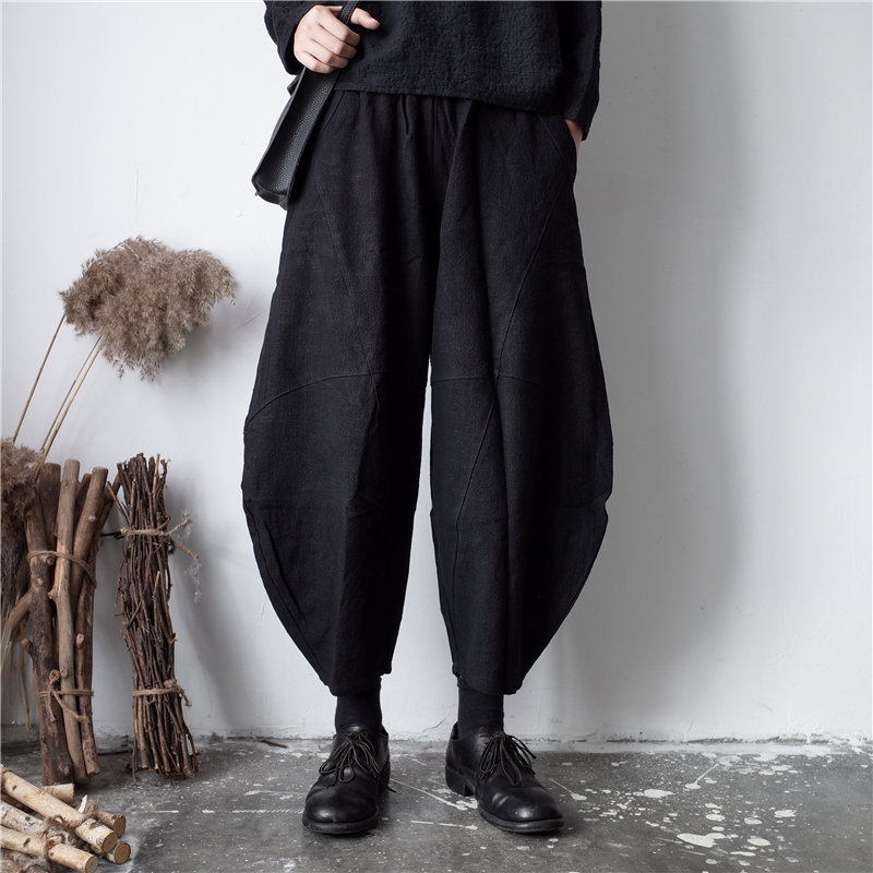 New 27-44 2018 Men's clothing GD Hair Stylist fashion street Loose cotton linen casual pants plus size costumes
