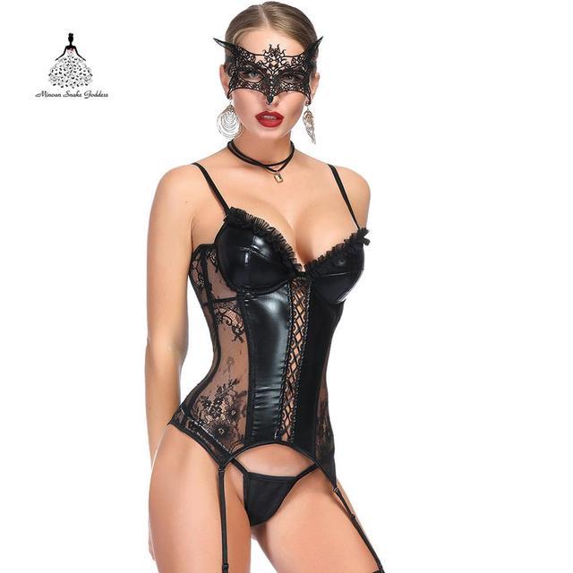 Bustier מחוך דוגמנות רצועת ארוטי סקסי מחוכי גותי סגנון הלבשה תחתונה הרזיה חגורת מחוך מחוך בורלסק מותן מאמן