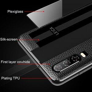 Image 3 - Para Huawei P30 Pro Caso De Couro Vpower Luxo Anti batida Couro Genuíno Telefone Chapeamento de Volta Caso Para Huawei P30 /P30 Capas Pro