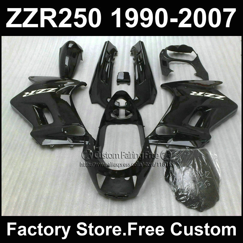 Custom ABS factory fairings set for Kawasaki ZZR 250 ZZR250 1990 1992 2007 ZZR 250 90