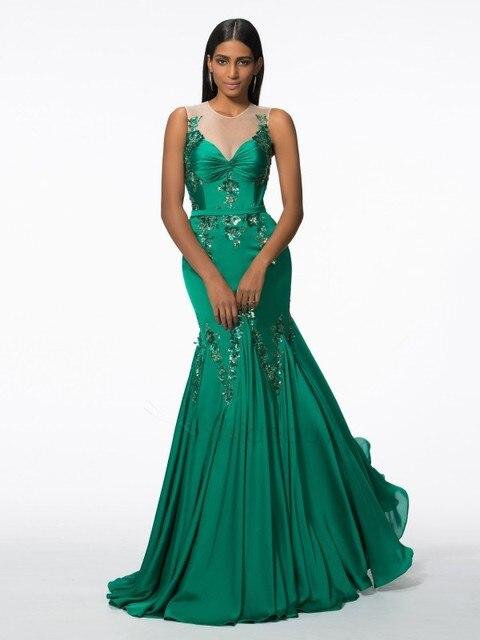 Vestido gala verde